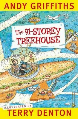 NEW The 91-Storey Treehouse  By Andy Griffiths Paperback Free Shipping
