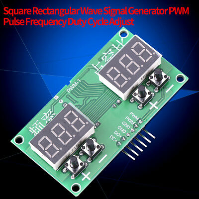 Square Rectangle Wave Signal Generator PWM Pulse Frequency Duty Cycle Adjustable