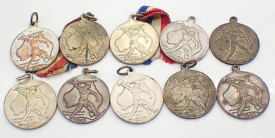 WWII 1945 Australian Victory Medals/Medalettes x 10