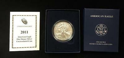 2011-W Burnished American Silver Eagle ASE $1 in OGP