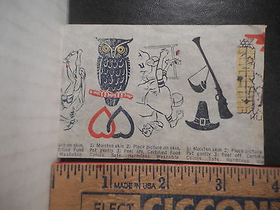 Small Candy Or Food Premium Tattoo Sheet  (1950s, 1960s)  89TB.
