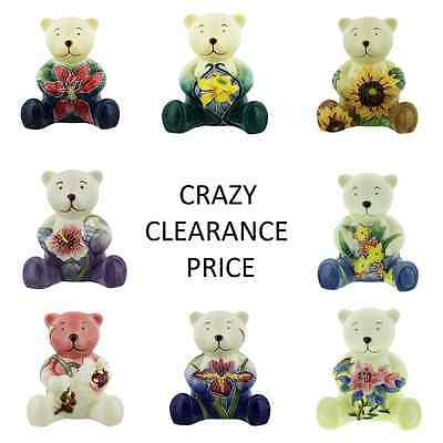 Old Tupton Ware Porcelain Teddy Bear.new & Boxed.choose From 8 Flower Designs