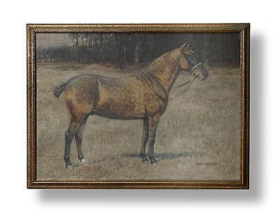 Attractive Antique English School Oil Painting Horse, Margaret Wynn 1931.