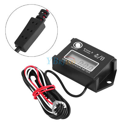 Tach/Hour Meter Digital LCD Display RPM Tachometer For Go Kart Gas Engine ATV EB