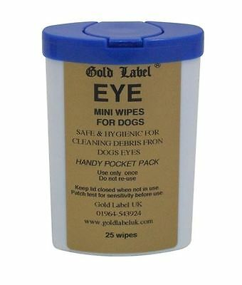 Gold Label - Dog Eye & Nose Wipes x 25 Pack