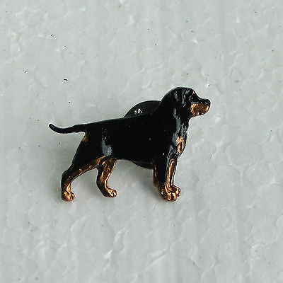 Rottweiler with Tail Lapel Pin Dog Breed Jewellery Handpainted Handcrafted