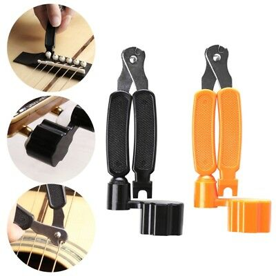 3 In 1 String Cutter+Guitar Peg Winder+Pin Puller Tool For Acoustic Instruments