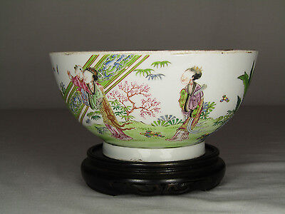 FINE 18th C. CHINESE FAMILLE ROSE BOWL, QING DYNASTY