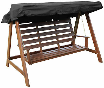 Woodside Black 2 & 3 Seater Garden Swing Chair Replacement Canopy Spare Cover