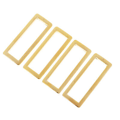 4Pcs Metal Wire Formed Rectangle Ring Loops Square  Rings Buckle for Webbing