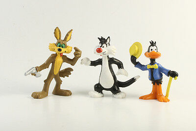 Looney Tunes Coyote Daffy Sylvester === 3 x Figuren Bully Bullyland 1983