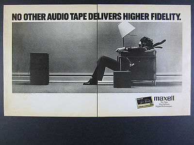 1988 Maxell Cassette Tape Blown Away Guy classic photo vintage print Ad