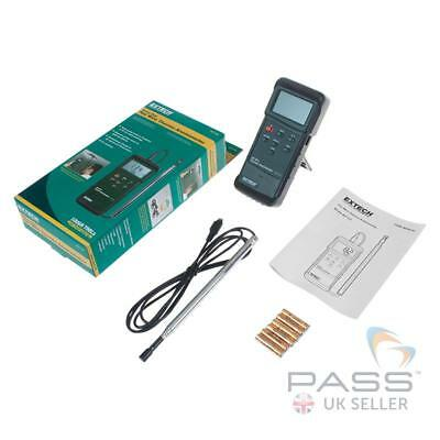 *NEW* Extech 407123 Heavy Duty Hot Wire Thermo Anemometer with Telescopic Probe