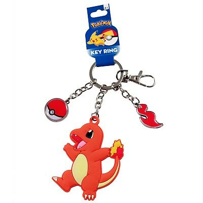Nintendo Pokemon Charmander Keychain and Pokeball Charm Accessory