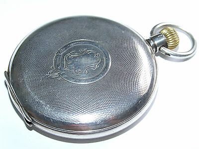 Fully Working Antique 1911 Solid Sterling Silver Full Hunter Pocket Watch