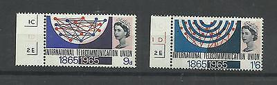 GB 1968  I.T.U. Centenary  Phosphor  umm / mnh set