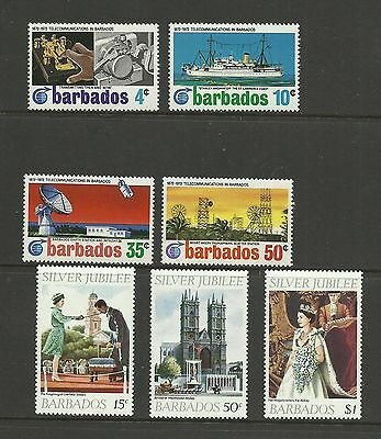 BARBADOS 1972 & 1977  Cable link Centenary & Silver Jubilee   umm / mnh