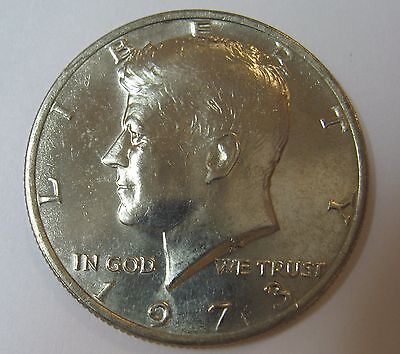 1973 John F Kennedy Clad Half Dollar In Choice BU Condition From Mint Set  DUTCH