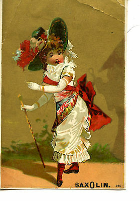 Lady Art-Saxolin Chalcedony Soap-Chicago-Illinois-Vintage Advertising Trade Card