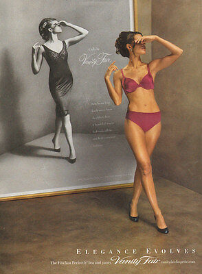 2010 magazine lingerie AD  Vanity Fair 'Fits youPerfectly Bra and Panties 021217
