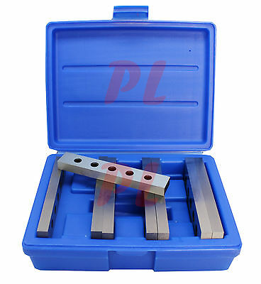 4 Pair 1/2'' x 6'' Steel Parallel Set  Hardened Square Precision Gauge 8 PCS