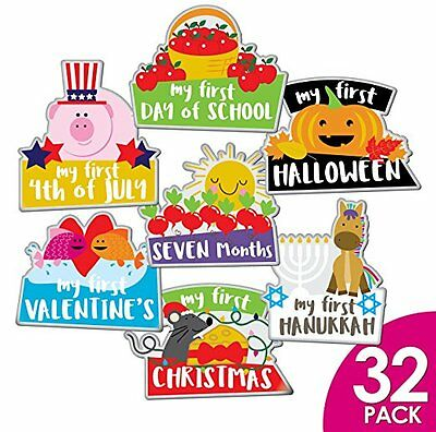 Ronica Farm Animals Baby Monthly Stickers LOT 32 Holidays Milestones Photos NEW!