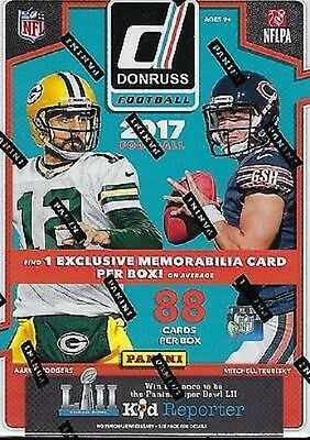 2017 Donruss Football NFL Trading Cards New 88ct. Retail Blaster Box new sealed