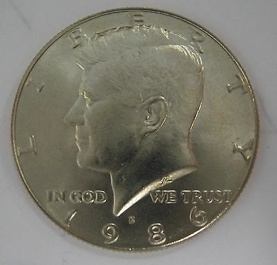 1986-D John F Kennedy Clad Half Dollar Choice BU Condition From Mint Set  DUTCH