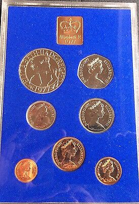1977 UK (Great Britain) Royal Mint Proof set - 7 Coins (28587)