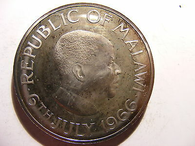 Malawi Crown, 1966, Day of the Republic - July 6, 1966, Toned PROOF
