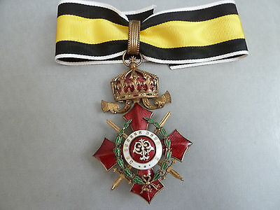 RARE! MILITARY MERIT Order 3 cl COMMANDER War Distinction Bulgaria WWI Bulgarian