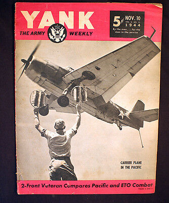 World War II Yank the Army Weekly 1944 Pacific Carrier Plane Two Front Fighter