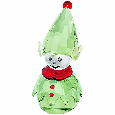 Swarovski Green Crystal Christmas Figurine SANTA'S HELPER #5059034 New