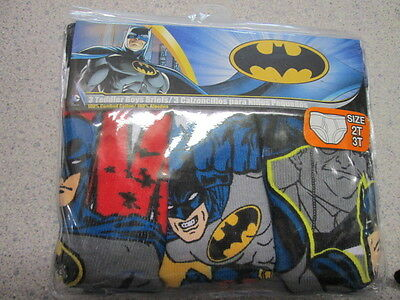 Batman Super Hero 3 boys briefs underwear SIZE 2T/3T BRAND NEW!