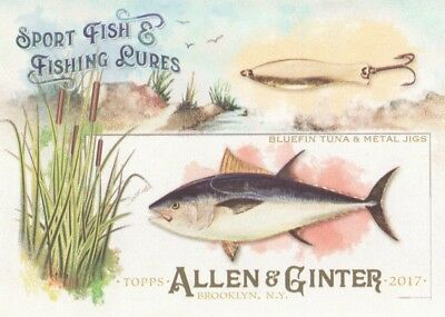 2017 Topps Allen & Ginter Sport Fish & Fishing Lures #SFL-15 Bluefin Tuna