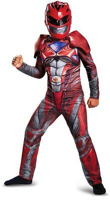 Licensed Red Power Ranger Movie Classic Muscle Character Costume Child Boys