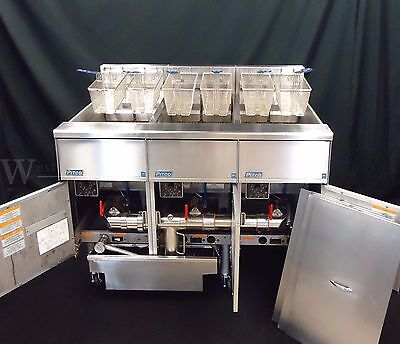 480V Pitco Se14 Solstice Supreme 3 Well Electric 50 Lb Commercial Fryer W Filter