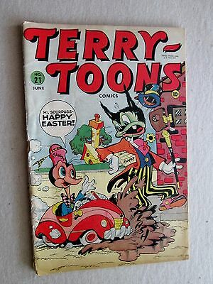 VINTAGE GOLDEN AGE  TERRY-TOONS COMICS  Vol. 1, No. 21,  June 1944