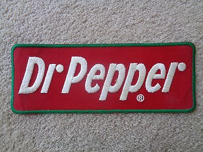 DR PEPPER UNIFORM PATCH -NOS- Original - Vintage 10 1/2 x 4 INCHES SODA NICE!!!