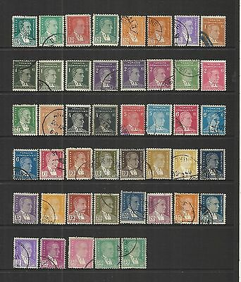 Turkey Turkiye ~ 1931 Kemal Ataturk Definitives (Part Set Postally Used)