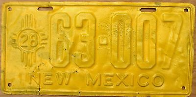 1928 New Mexico License Plate Number Tag - $2.99 Start