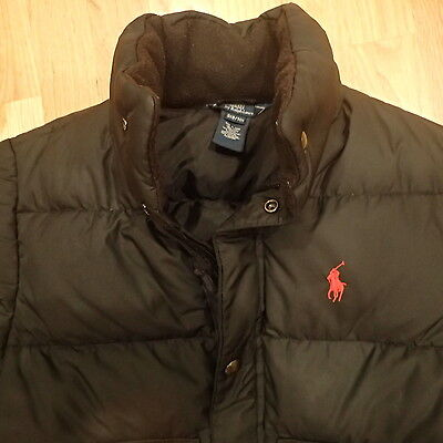 Polo Ralph Lauren Boy Black Jacket COat Size Small 8 10 Preppy SHarp Nice Warm!!