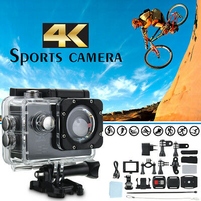 "4K SJ8000R 2"" Waterproof Remote Wifi Sport Action Camera DV 1080P HD Cam DVR"