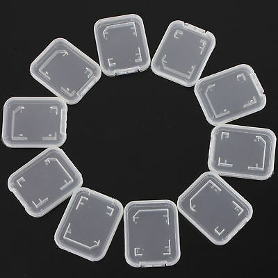 Standard SD SDHC Memory Card Case Holder Box Storage 10PCS New Stand Transparent