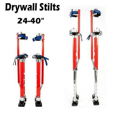 Red 24-40 Inch Drywall Stilts Aluminum Tool Stilt For Painting Painter Walking
