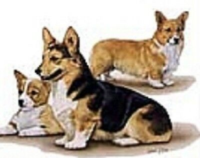 Retired WELSH CORGI FAMILY Softcover Address Book artwork by Robert May