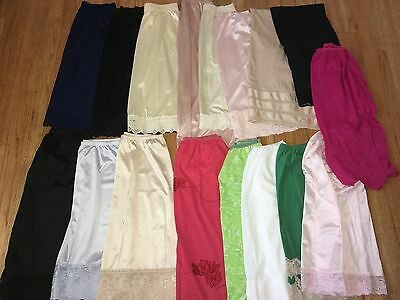 Huge Lot ~ 17 Vtg Half Slips ~ Olga/vanity Fair/aristocraft/gossard Artemis ~ M