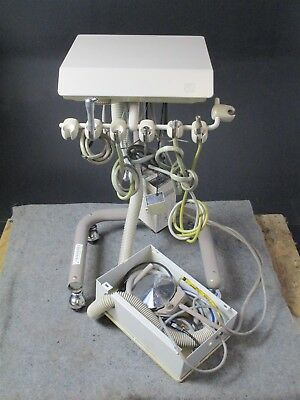 Adec 2562 Delivery Dental System Cart w/ 2 Handpiece Connections