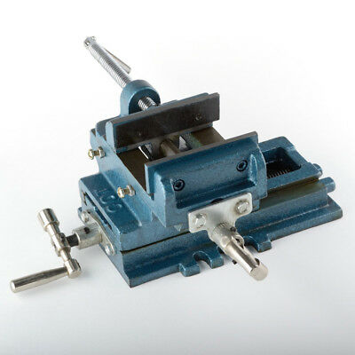 "ATE Tools 4"" Cross Sliding Drill Vise Slide Machine Shop Heavy Duty Clamp Press"