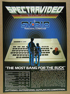 1983 Spectravideo SV-318 Personal Computer photo vintage print Ad